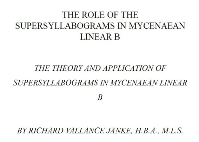 Role of SSYLs in Mycenaean Linear B