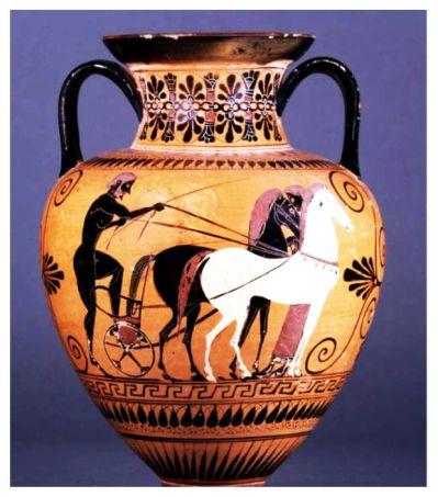 vase with Mycenaean chariot