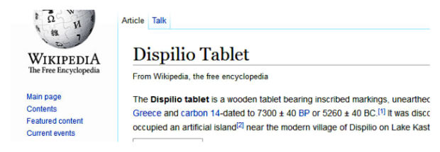 wikipedia dispilio