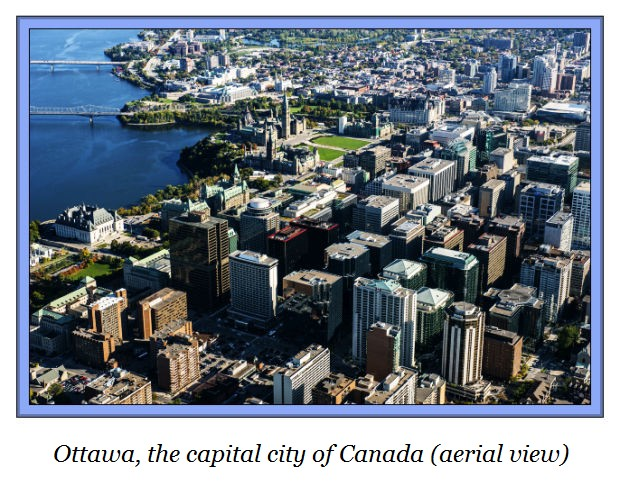 b Ottawa Canada's capital aerial view downtown