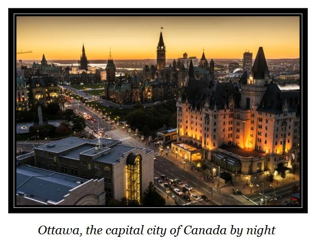 c Ottawa Canada's capital city by night