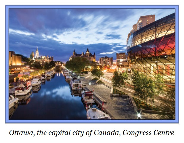 d Ottawa Canada's capital city Rideau Canal and Congress Centre