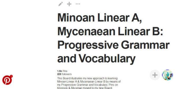 Minoan Linear A Linear B