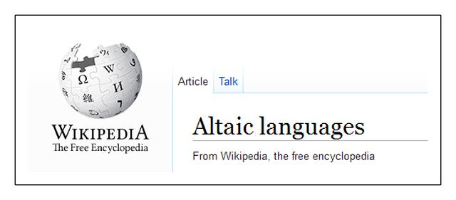 Altaic Wikipedia TI