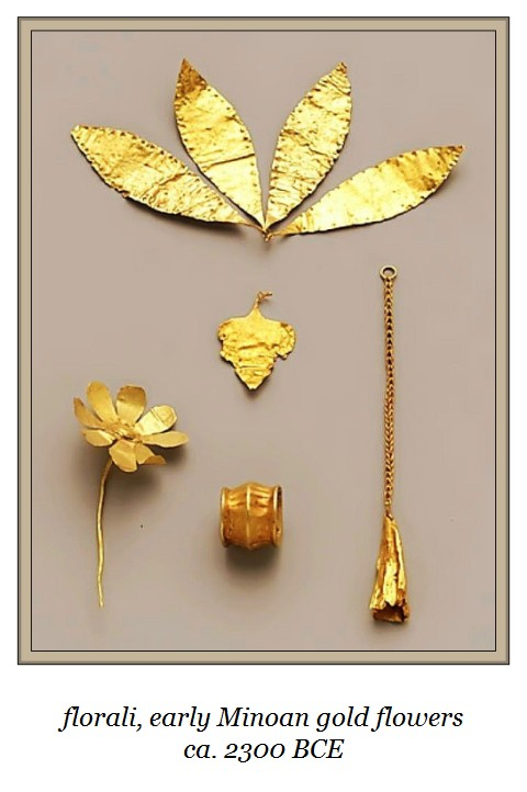 florali early Minoan gold flowers ~ c2300 B.C.