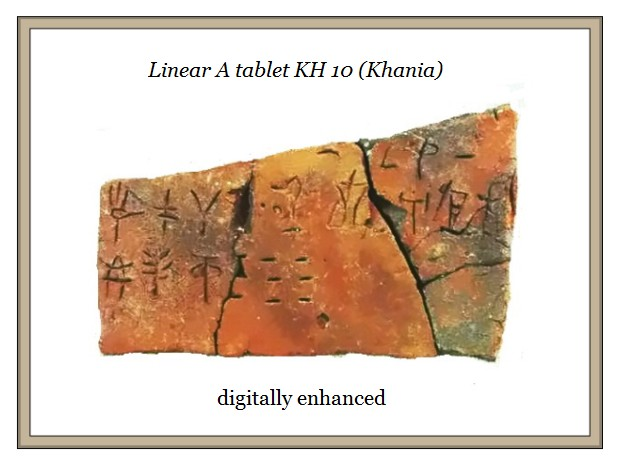 Linear A tablet KH 10 Khania digitized