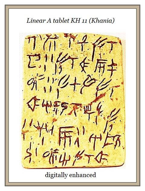 Linear A tablet KH 11 Khania digitized