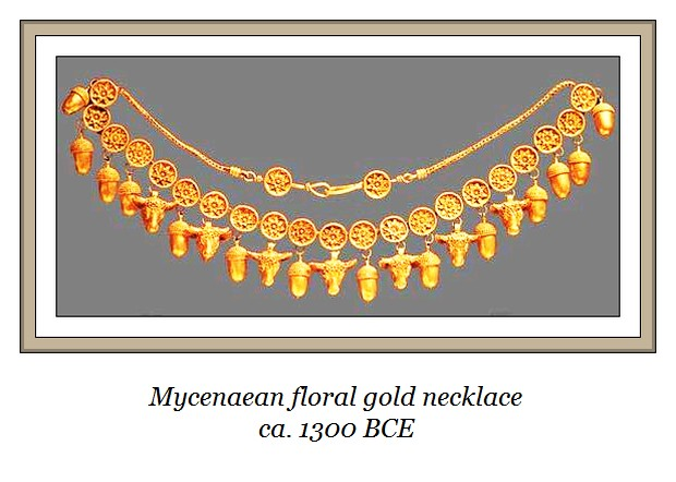 Mycenaean gold necklace 1300 BC