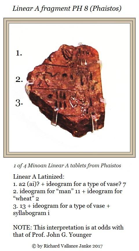 Linear A fragment Phaistos PH 8