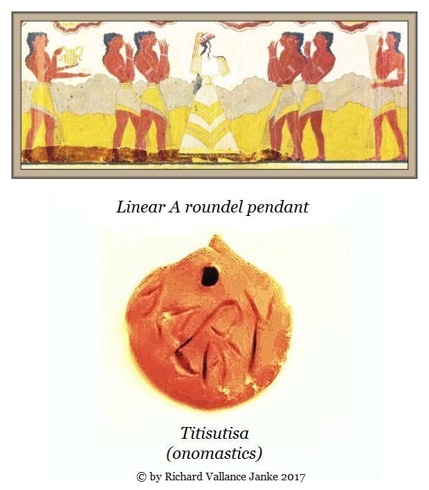 Linear a roundel Titisutisa onomastics