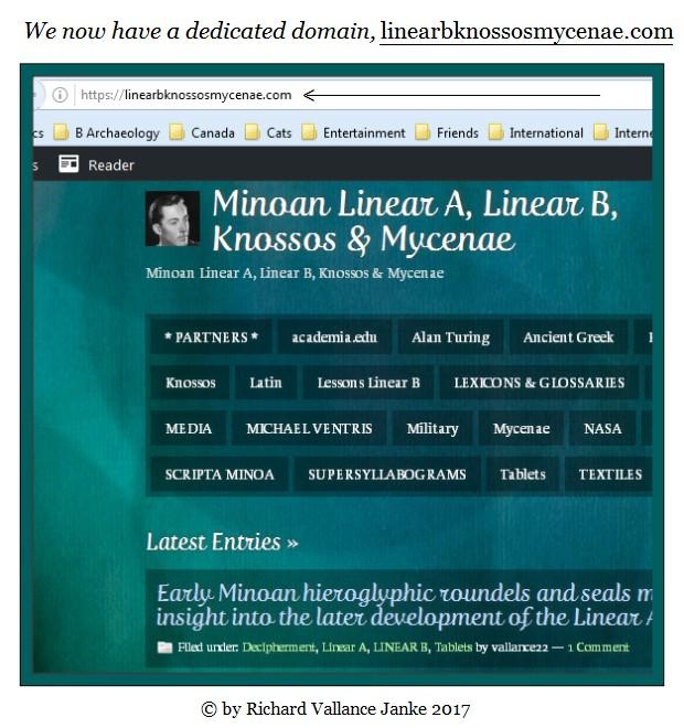 Minoan Linear A Linear B Knossos & Mycenae domain name