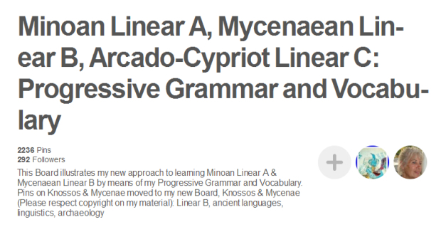 PINTEREST Linear A Linear B progressive grammar and vocabulary