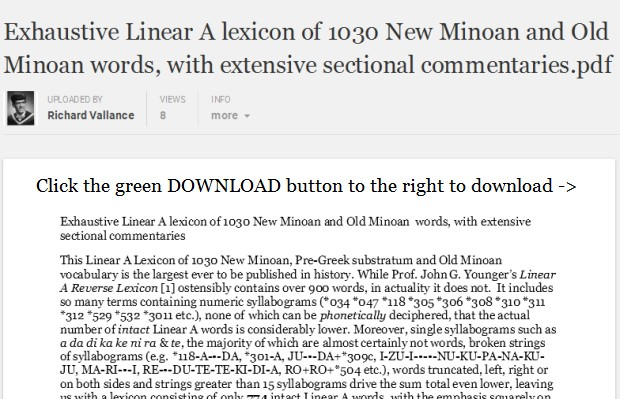exhaustive linear a lexicon of 1030 Minoan words with extensive sectional commentaries