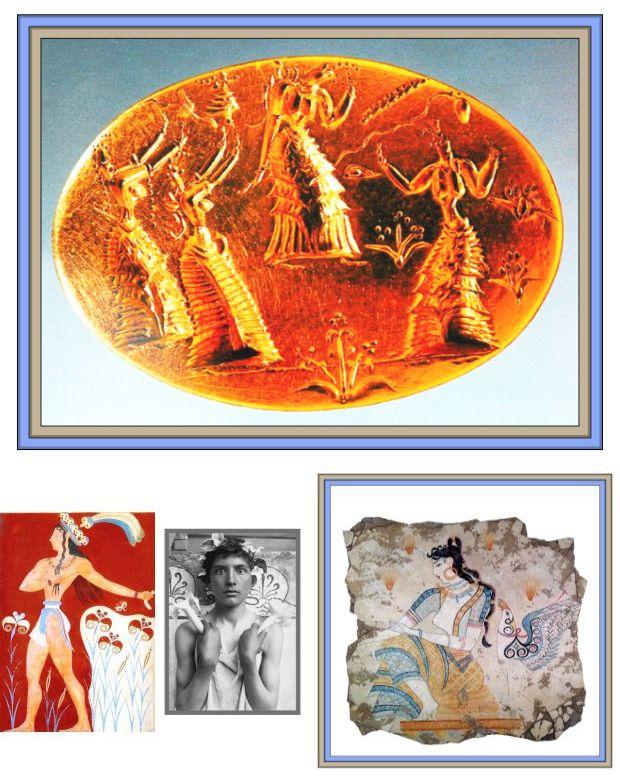 goddesses on signet Minoan prince saffron goddess