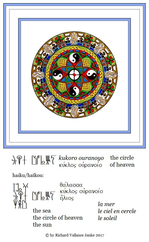 Mandala the circle of heaven Mycenaean haku the sea the circle of heaven the sun