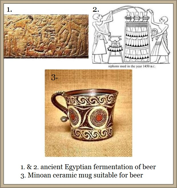 ancient depictions of beer consumption and brewing b