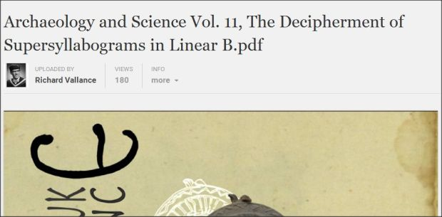 Archaeology and Science decipherment of supersyllabograms in Linear B