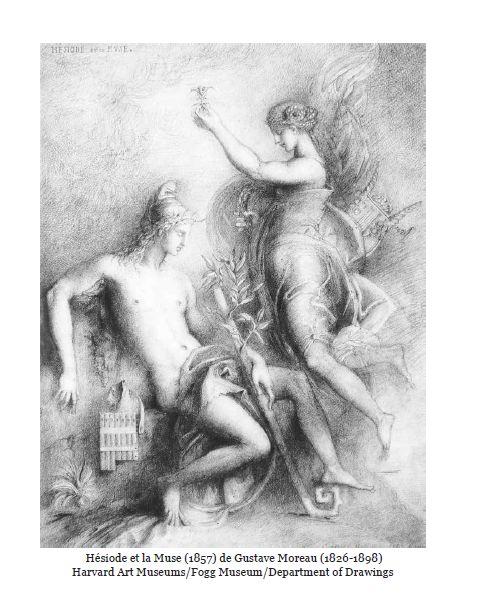 Hesiode et la Muse de Gustave Moreau 1826-1898