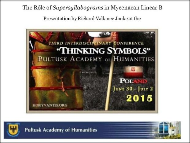 role of supersyllabograms in Linear B Thinking Symbols