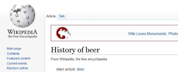 wikipedia the history of beer