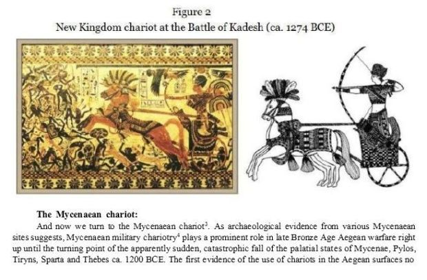 bNew Kingdom chariot