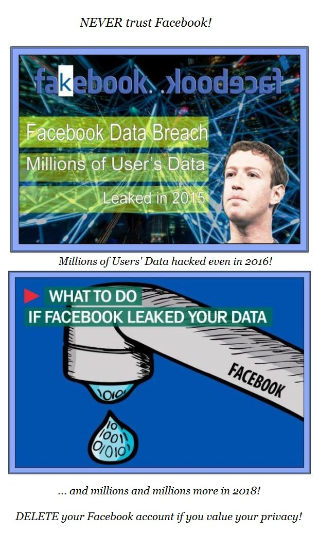 Facebook data breach 2016 & 2018