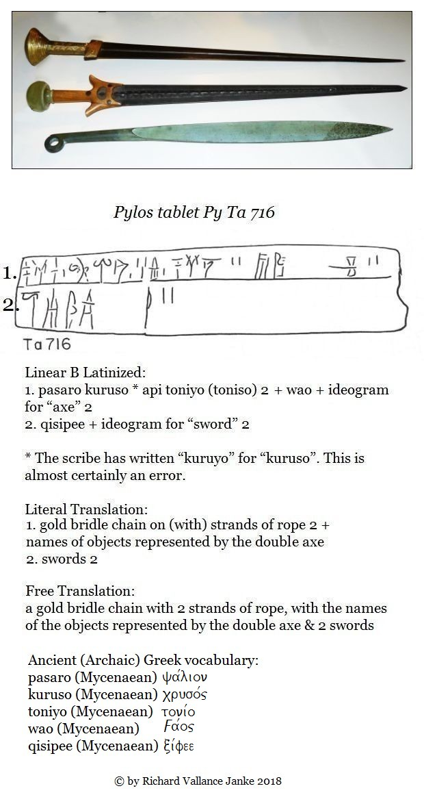 Linear B tablet py-ta-716