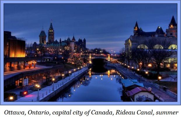 Ottawa Rideau canal nighta