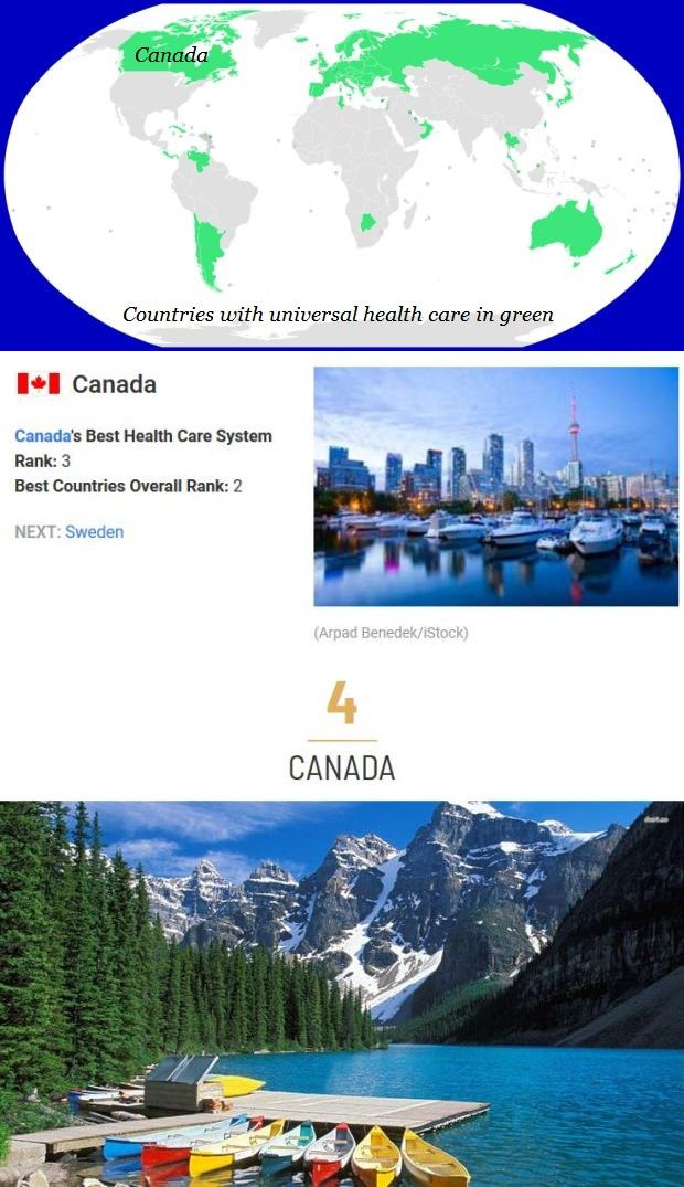 Universal health care and Canada 3 & 4
