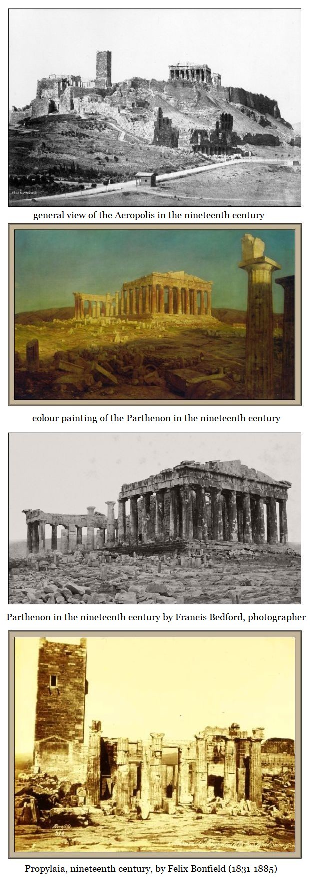 acropolis and propylaia nineteenth century
