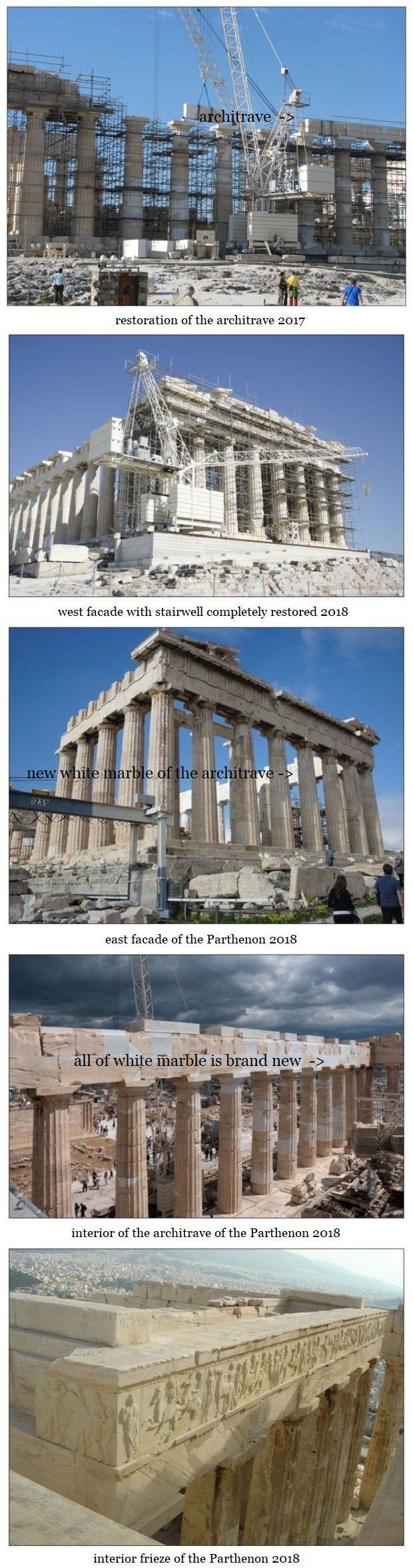 Parthenon 5 views 2018