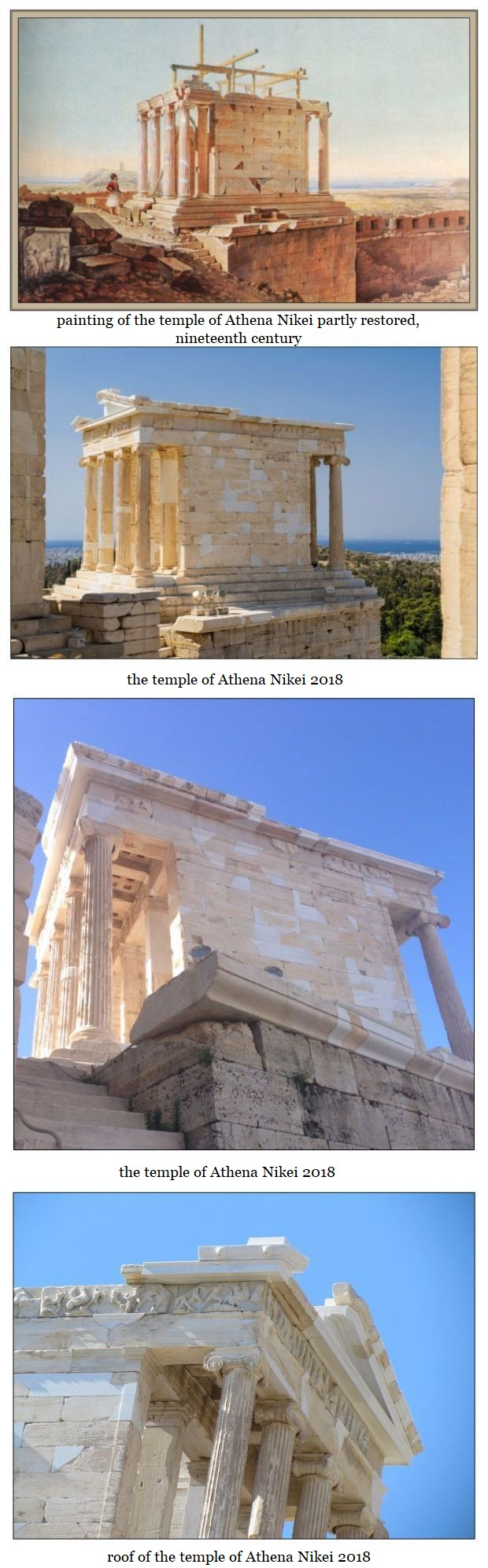temple of Athena Nikei past and present