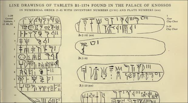 first tablets from scripta minoa vol 2620