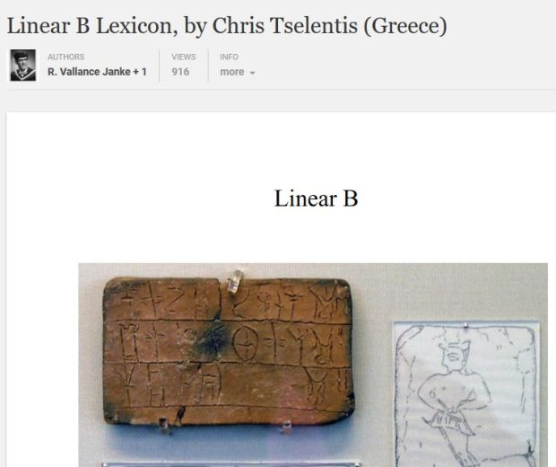 Linear B Lexicon academia.edu