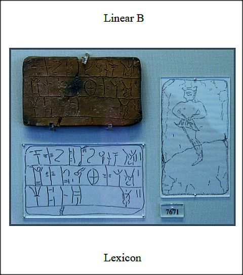 Linear B Lexicon frontispiece