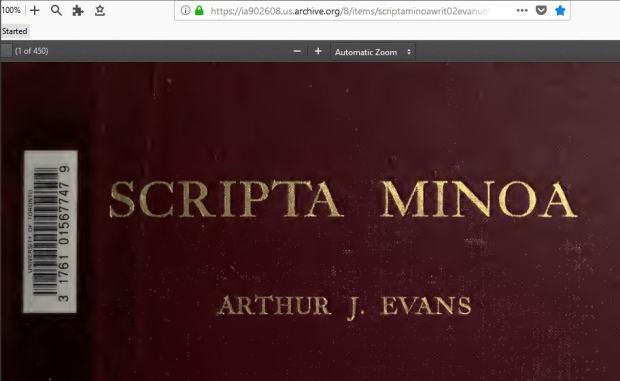 Scripta Minoa Vol 2620