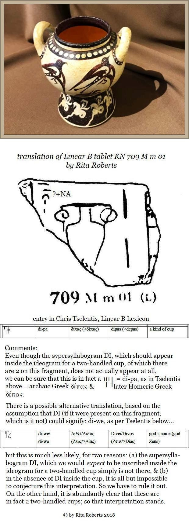 Linear B fragment KN 709 M m 01 two-handled cup