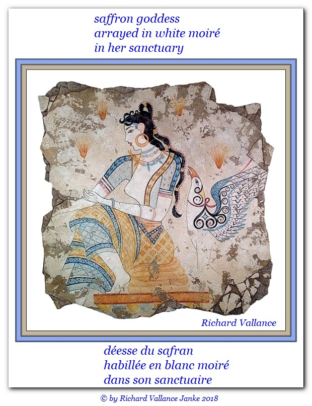 Minoan Saffron Goddess with dyed dress