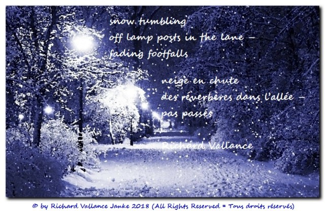 haiku snowstorm street lights