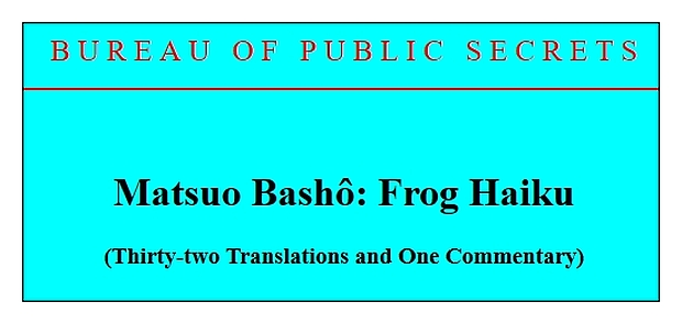 matsuo basho old pond examples