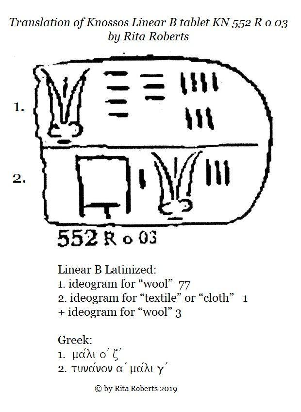 knossos linear b tablet kn 552 r o 03