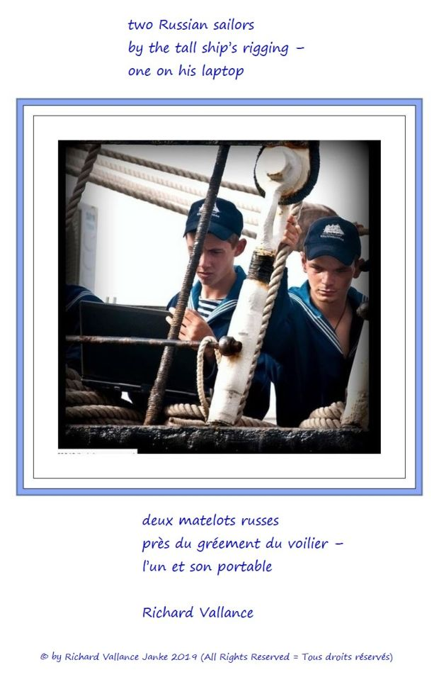 Russian sailors in the rigging 620