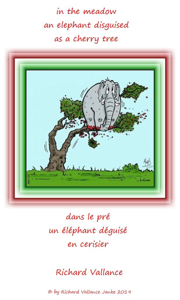 elephant in a cherry tree