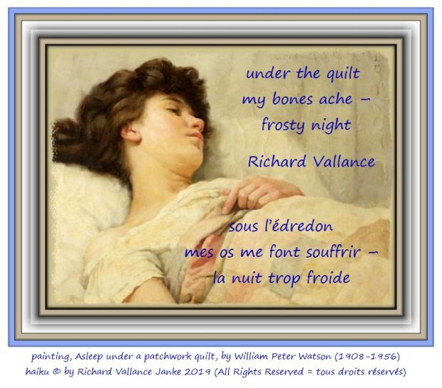 night William Peter Watson Asleep under a patchwork quilt 620